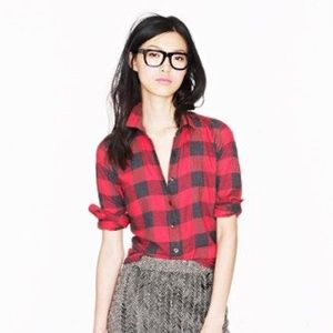 Jcrew Perfect Fit Buffalo Check Flannel S